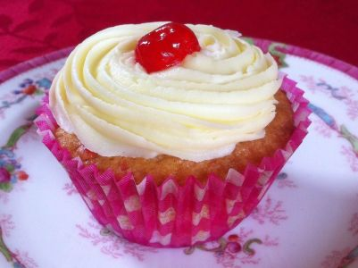 Photo of Cherry White Chocolate Cupcake