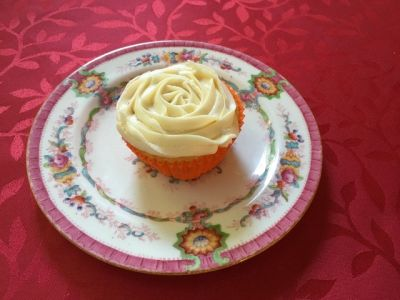 Photo of Vanilla Peach Cupcake